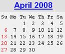 Events Calender April 2008 New York City