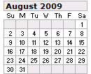 Events Calender August 2009 New York City