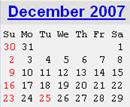 Events Calender December 2007 New York City