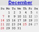 Events Calender December 2008 New York City