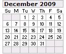 Events Calender December 2009 New York City