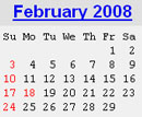 Events Calender February 2008 New York City