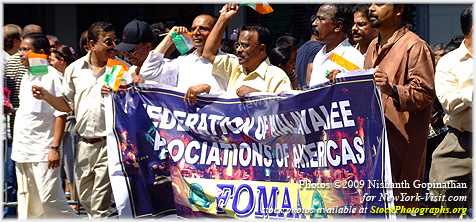 FOMAA Federation of Malayalee Association of Americas India Day Parade New York City