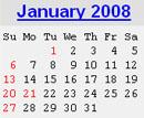 Events Calender January 2008 New York City