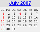 Events Calender July 2007 New York City