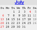 Events Calender July 2008 New York City