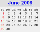 Events Calender June 2008 New York City