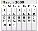 Events Calender March 2009 New York City