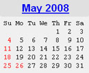 Events Calender May 2008 New York City