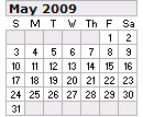 Events Calender May 2009 New York City