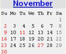 Events Calender November 2008 New York City