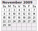 Events Calender November 2009 New York City