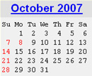 Events Calender October 2007 New York City