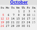 Events Calender October 2008 New York City