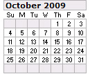 Events Calender October 2009 New York City