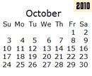 Events Calender October 2010 New York City