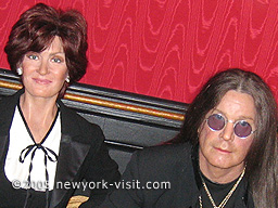 Osbournes at Madame Tussauds ~ Portraits of iconic celebrities and trendsetters who helped shape each decade of the 20th century are represented in vignettes highlighted by the fashions, trends, news and fads of the era.