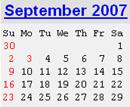 Events Calender September 2007 New York City