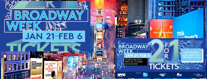 Buy 2-for-1 Broadway Tickets during Broadway Week 2014 New York Visit
