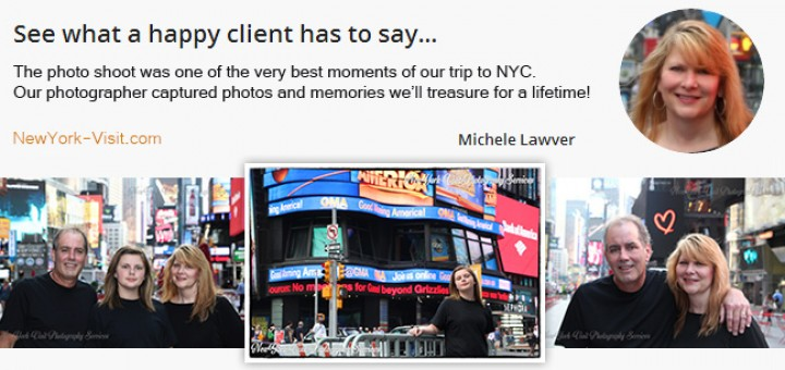 Testimonial for professional vacation photos in New York City